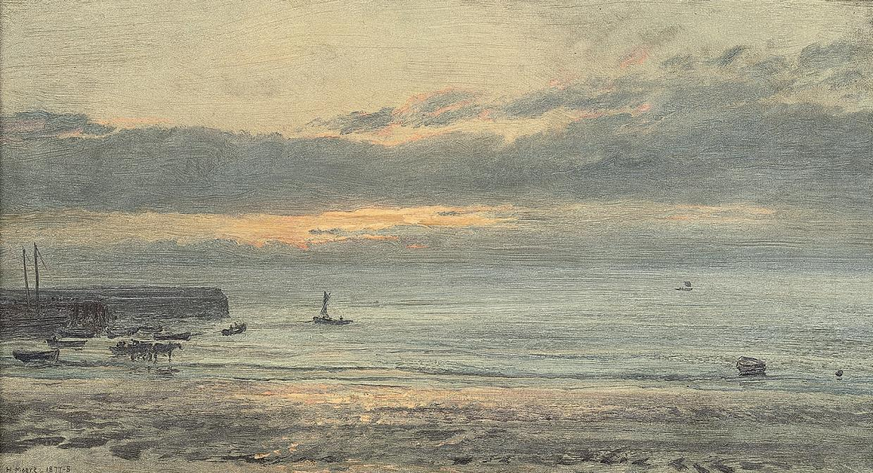 Before sunrise, Scarborough - low water