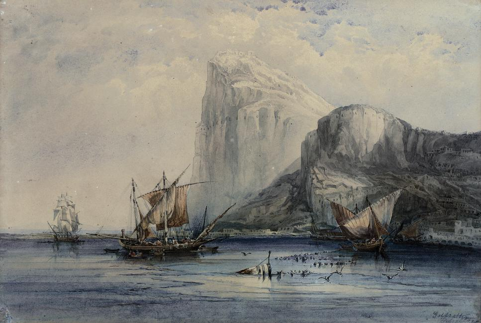 Coastal craft off Gibraltar
