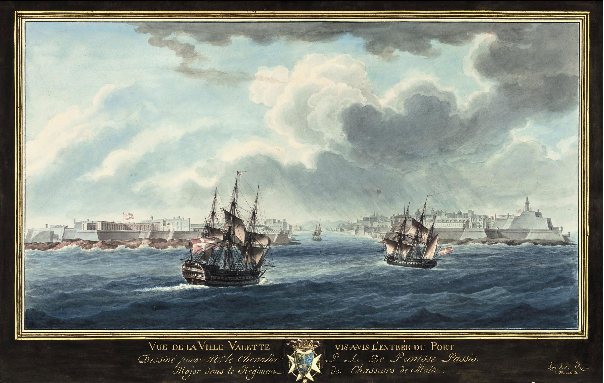 Vue de la Ville Valette vis-à-vis l'entrée du port