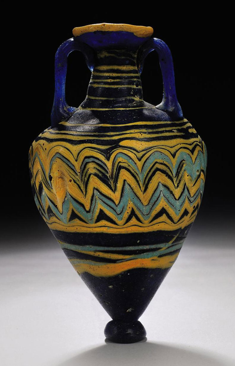 A GREEK CORE-FORMED GLASS AMPH