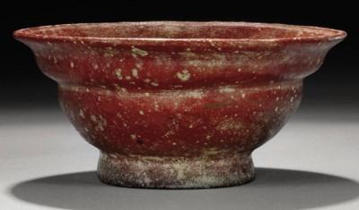 A ROMAN OPAQUE RED GLASS PATEL
