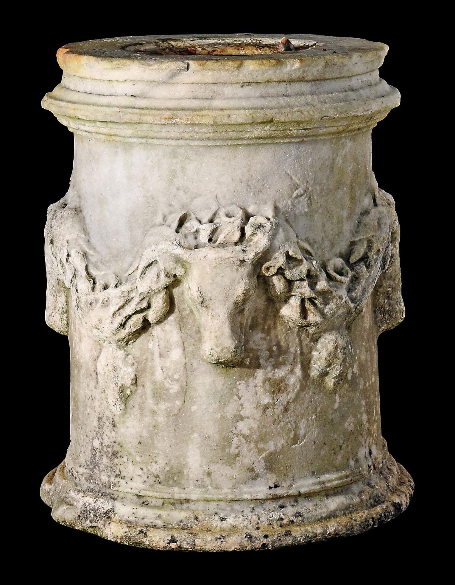 A GREEK MARBLE ALTAR