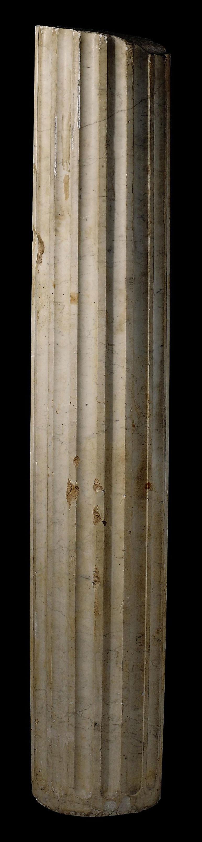 A ROMAN MARBLE COLUMN