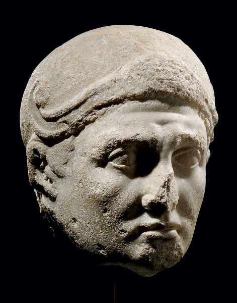 A ROMAN MARBLE PORTRAIT OF MAR