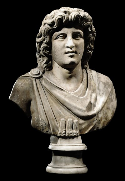 A ROMAN MARBLE BUST OF ALEXAND