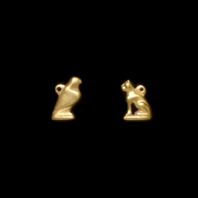 TWO EGYPTIAN GOLD AMULETS