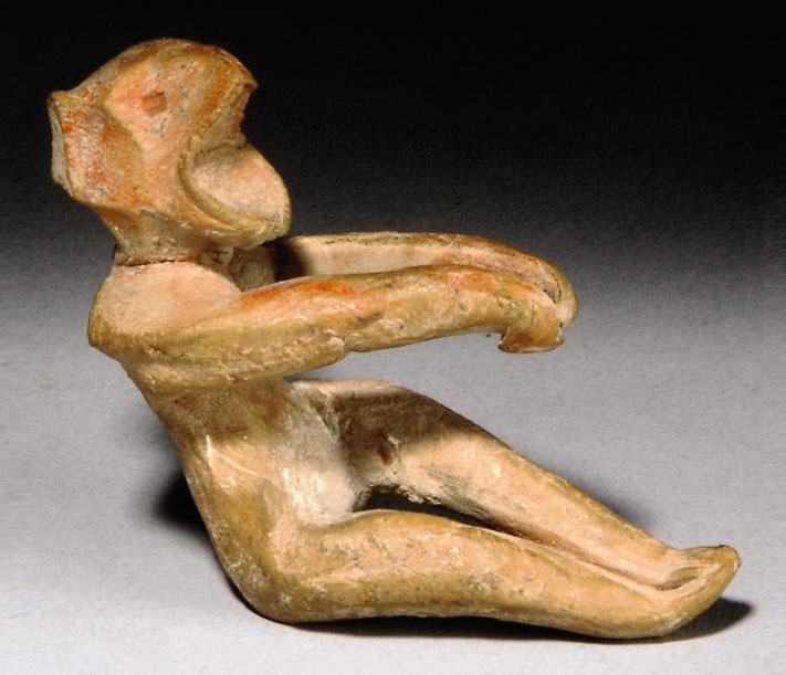 A GREEK TERRACOTTA ROWER