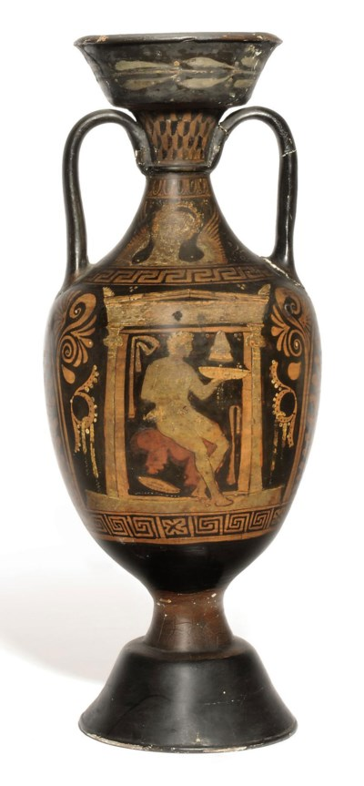 AN APULIAN RED-FIGURED AMPHORA