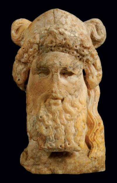 A ROMAN GIALLO ANTICO HERM OF