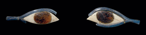 A PAIR OF EGYPTIAN GLASS EYE I