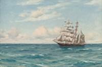 A clipper at sea