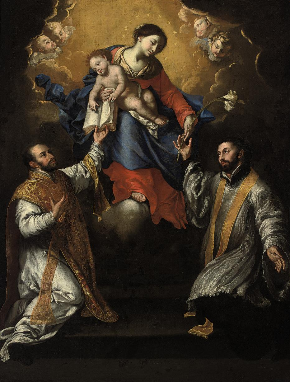 The Madonna and Child in Glory with Saints Ignatius of Loyola and Xavier