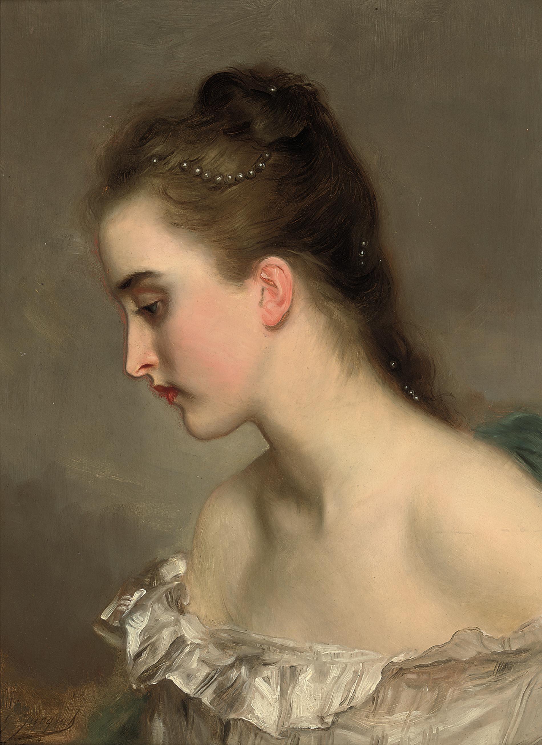 Gustave-Jean Jacquet (Paris 1846-1909) | The debutant | 19th Century ...