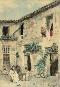 SEWING IN THE COURTYARD