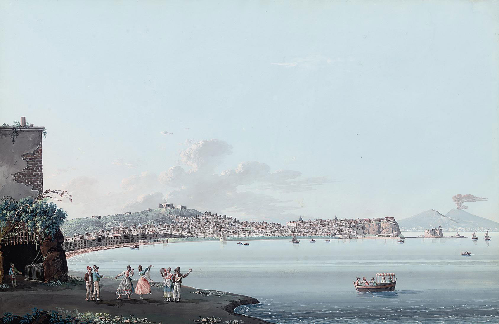 The Bay of Naples, Vesuvius beyond