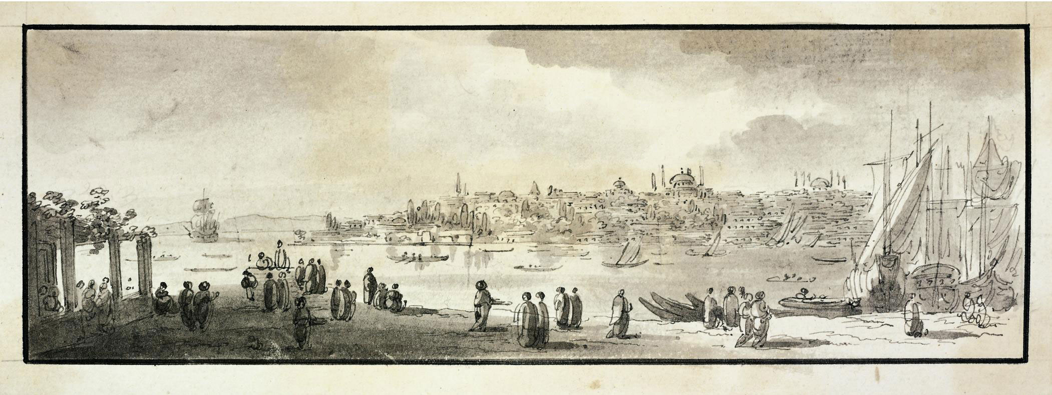On the Bosphorus before the mosques of Hagia Sophia and Sultan Ahmed