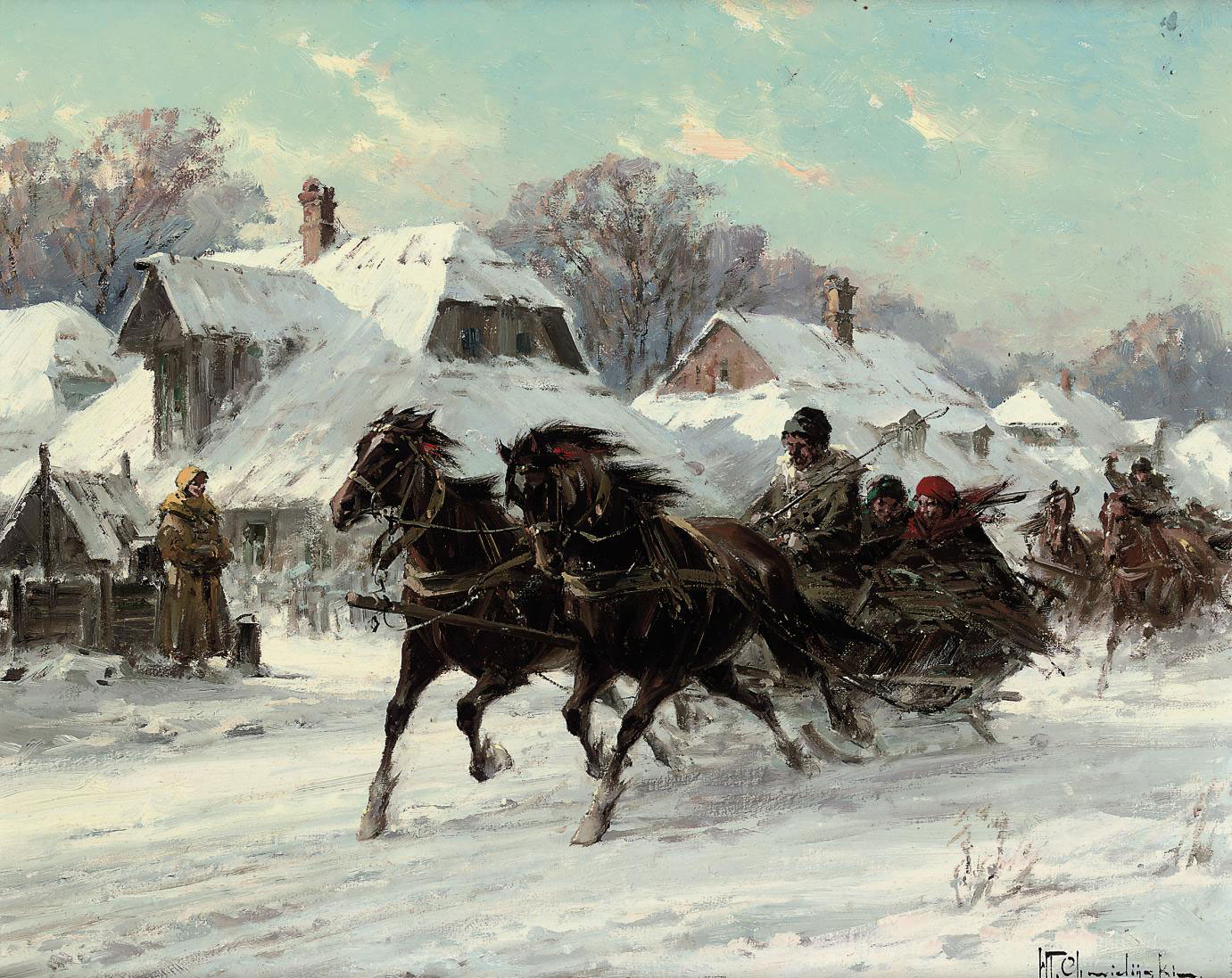 Running Troikas through a village