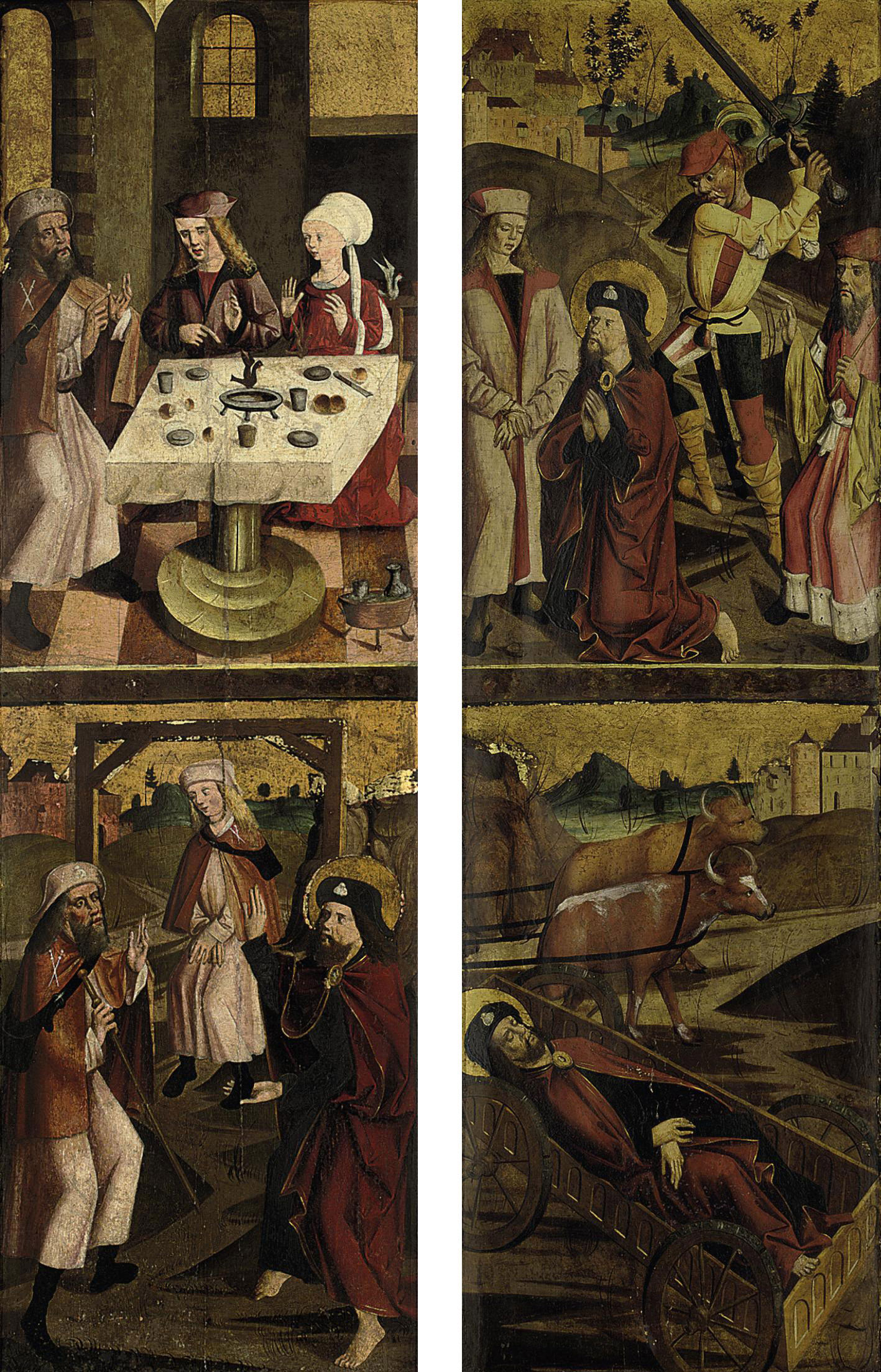 The wings of a triptych: scenes from the life of Saint James the Great