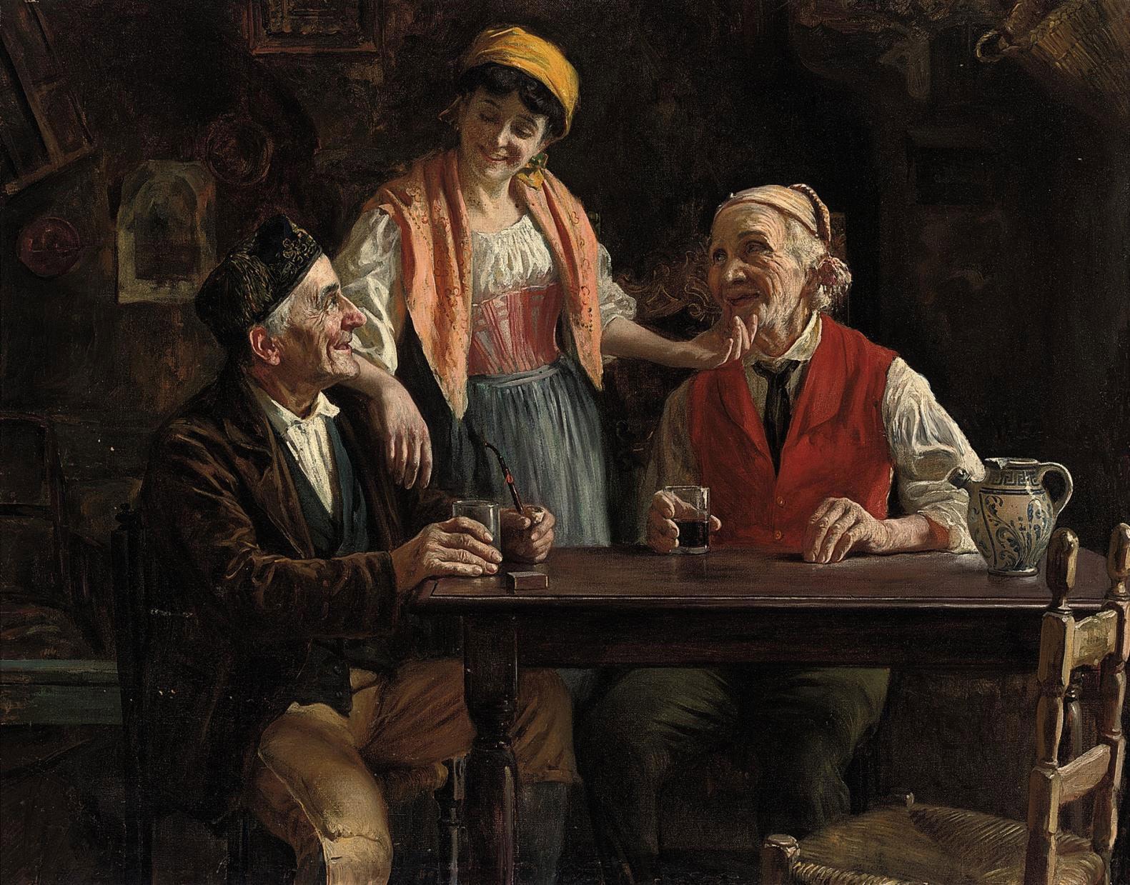 Flirtation at the tavern