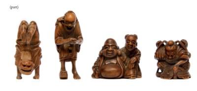 Five Wood Netsuke
