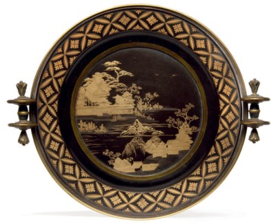 An Export Lacquer Dish