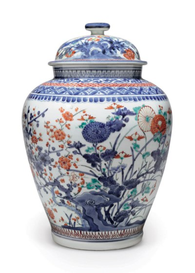 A Kakiemon Vase and Cover