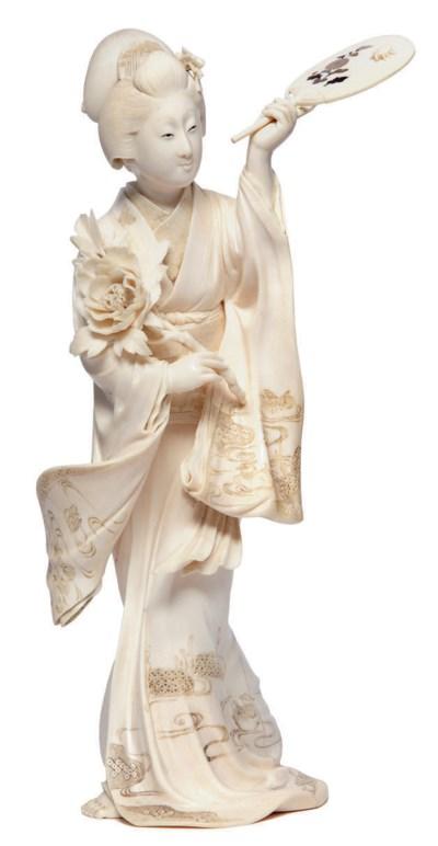 An Ivory Tusk Vase