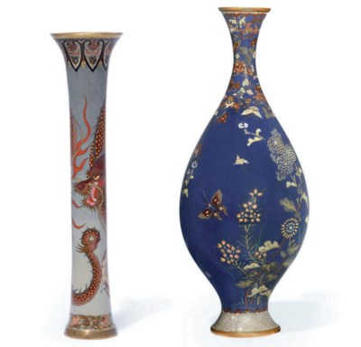 A Cloisonné Spill Vase and Ano