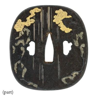 A Rounded-Square Iron Tsuba