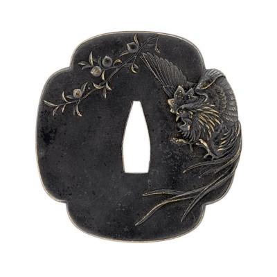 A Mokko-Shaped Shinchu Tsuba