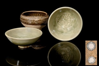 A PAIR OF YAOZHOU BOWLS