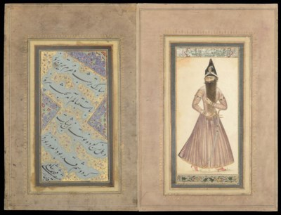 A PAINTING OF FATH 'ALI SHAH W