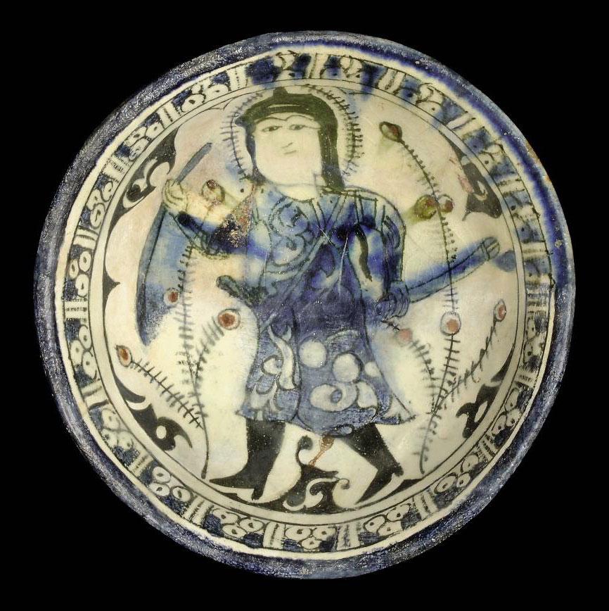 A RAQQA BOWL, SYRIA, 13TH CENT