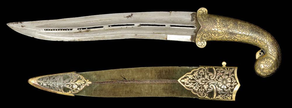 A PEACOCK-HILT DAGGER, INDIA,