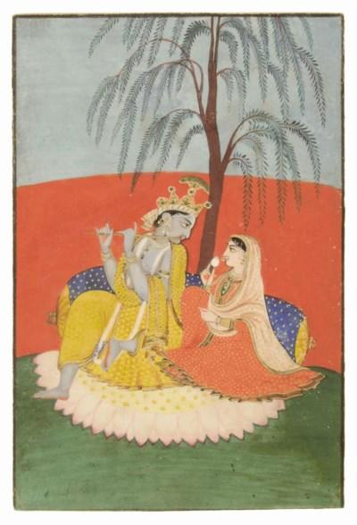 KRISHNA AND RADHA, KANGRA, CIR