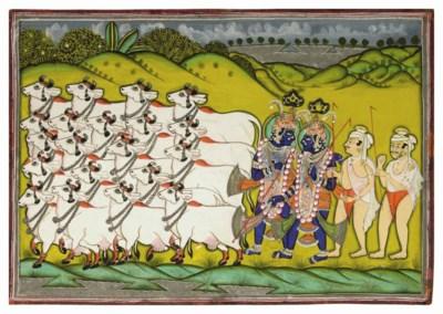 KRISHNA HERDING COWS, NATHDWAR