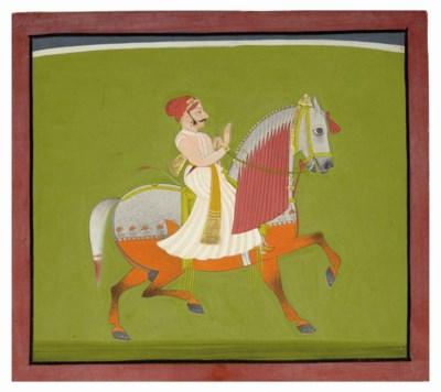 A HORSE AND RIDER, MEWAR, CIRC