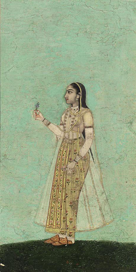 A YOUNG WOMAN WITH FLOWER, BIKANER, CIRCA 1790