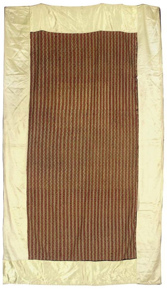 A PANEL OF STRIPED SHAWL CLOTH