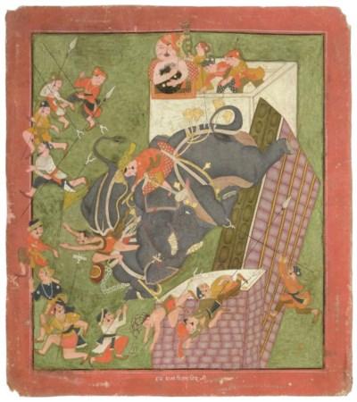 A RAMPAGING ELEPHANT, KOTAH, 1
