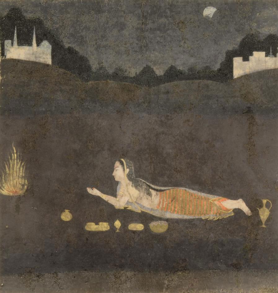LADY WORSHIPPING AT NIGHT, PRO