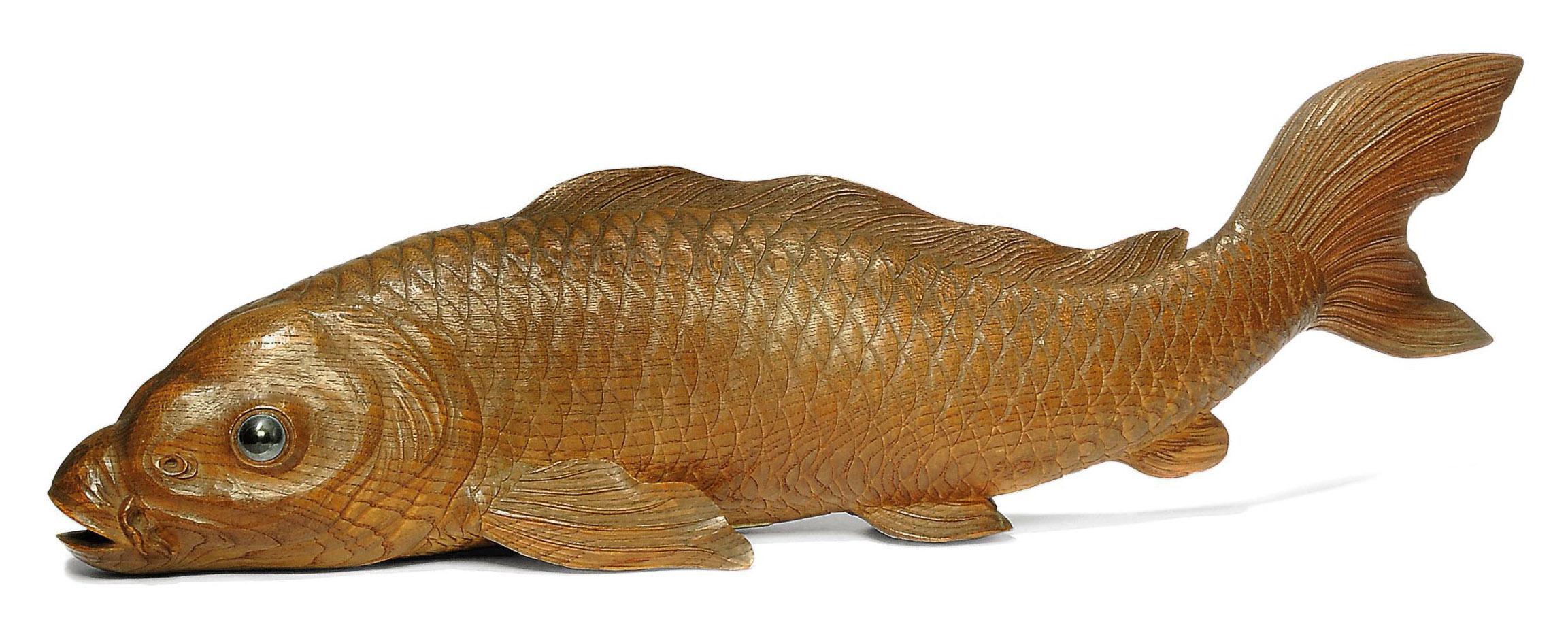 A Large Wood Okimono [Sculptur