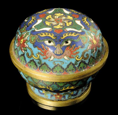 A CLOISONNÉ ENAMEL AND GILT BR