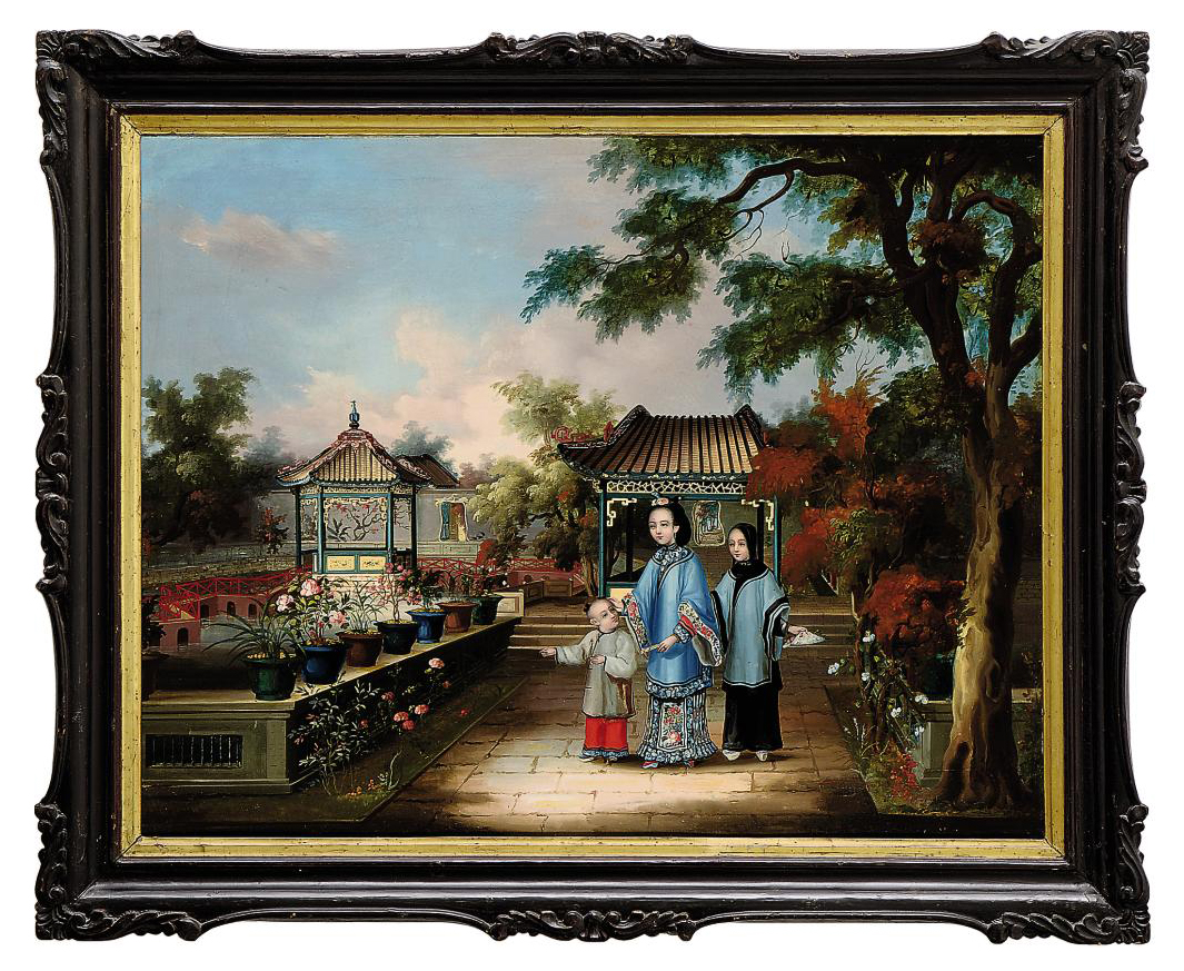 TWO CHINESE SCHOOL OIL PAINTINGS