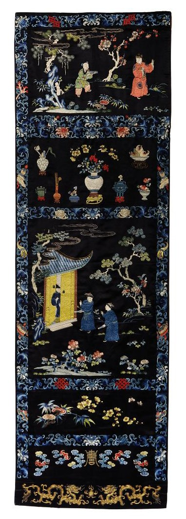 AN EMBROIDERED SCREEN PANEL