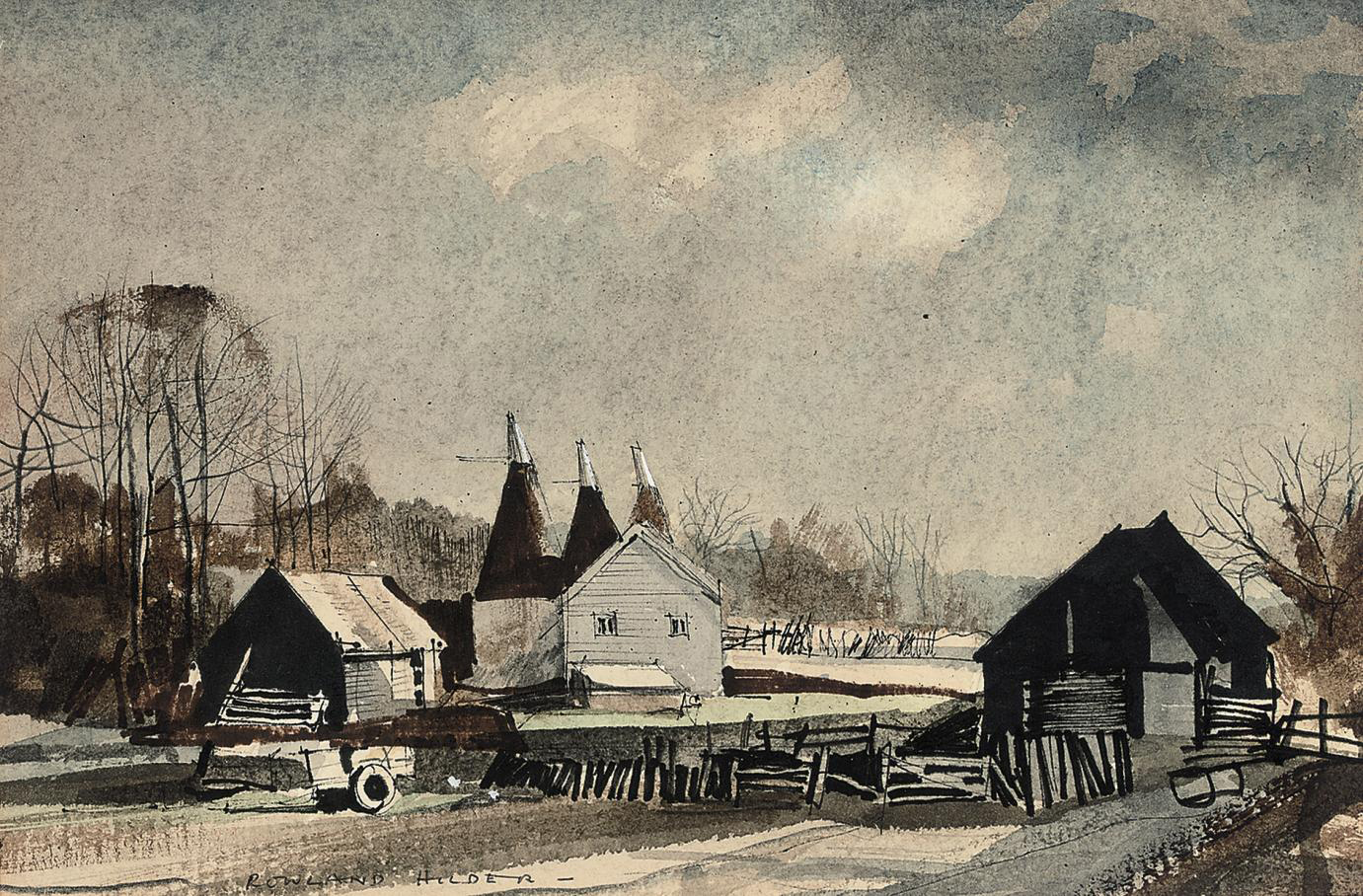 Oast houses, Kent