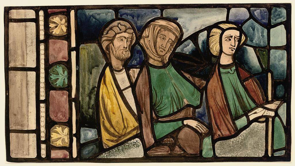 Copy of XIV Century Stained Glass Panel at Chalons-sur-Marne