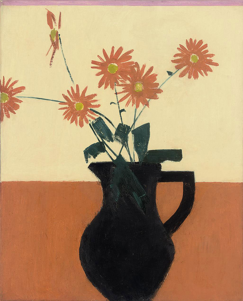 Flowers with Black Jug