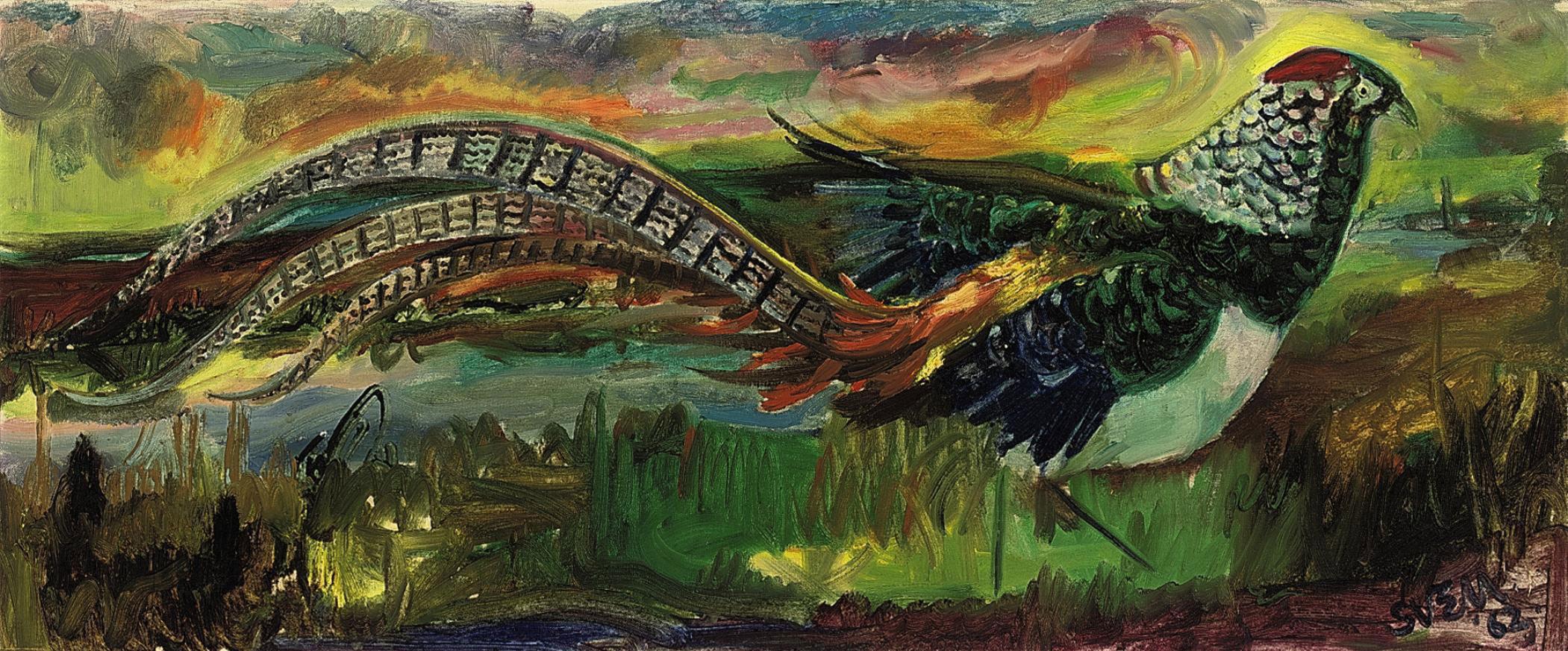 Painting of an Amhurst Pheasant