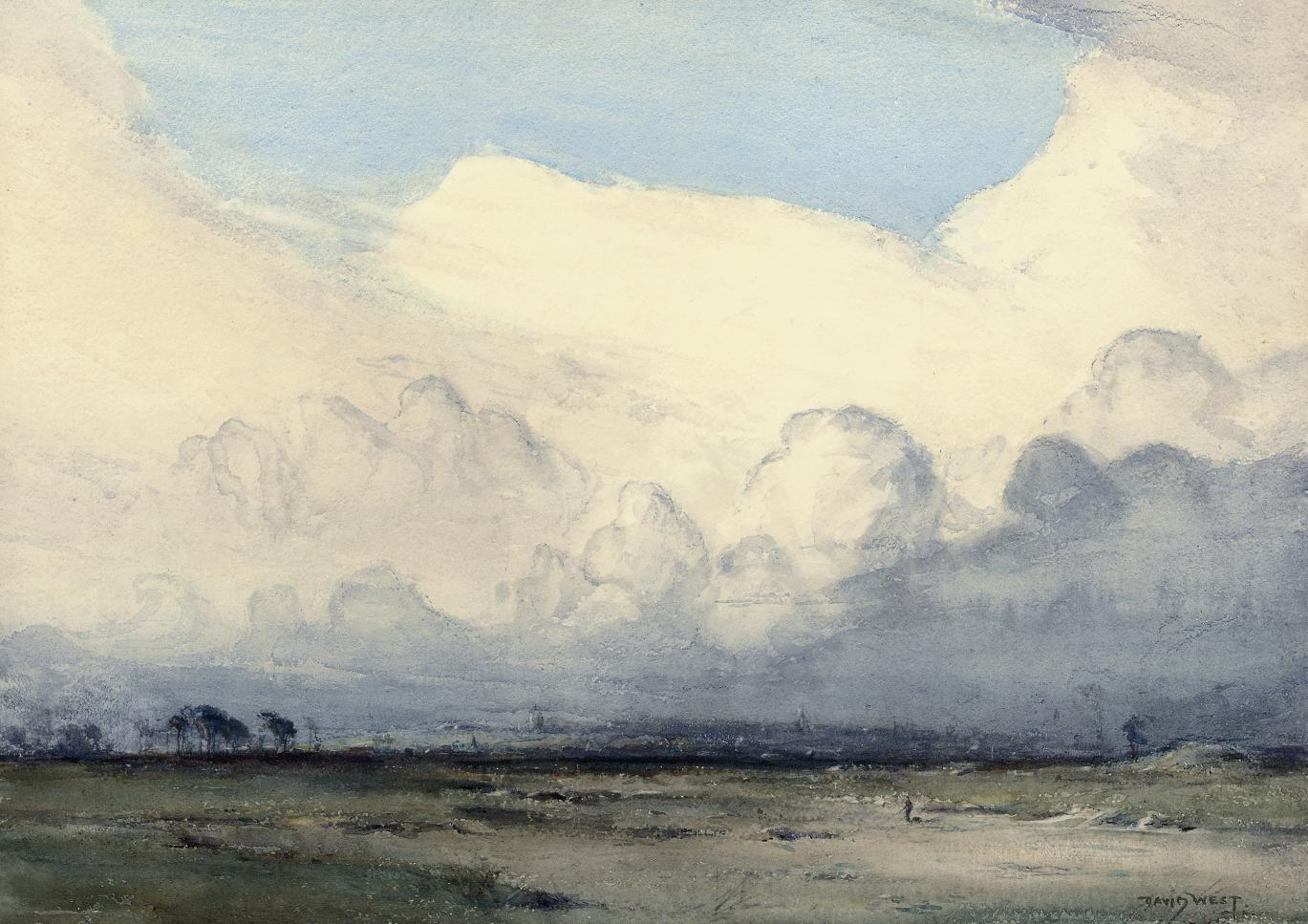 """Clouds from the North, November afternoon"""